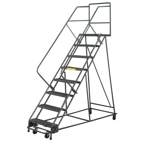 Ordinaire Mobile Ladder, 8 Step Mobile Safety Stairs Click To Enlarge. Mobile Ladder  ...